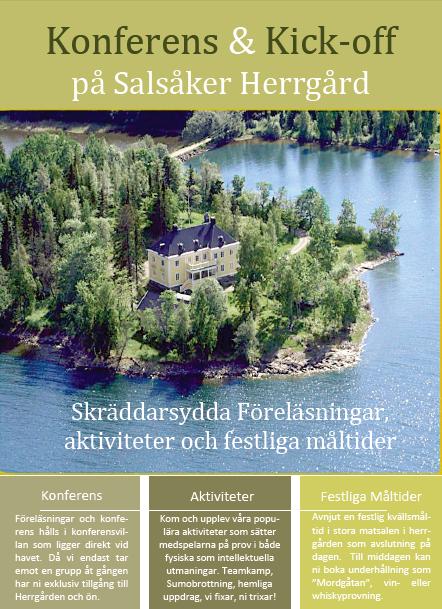 Konferens Salsaker Herrgard